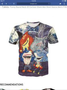 7b3825823 Shark Man, 3d Cartoon, Cheap T Shirts, Shirt Sale, Clothing Sites,