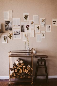 DIY dried flower wall