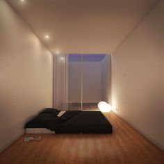 This looks very peaceful. Ideal bedroom tbh. No distraction, soft mood lighting. Plenty of space.