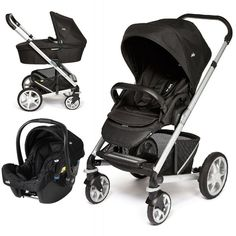 Joie Chrome Plus 3in1 Travel System-Black Carbon