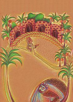 for children's magazines :::Dar Dar Al Hadaek  color pencil
