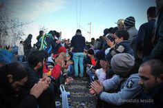 Greek northern borders, 26August 2015 Refugees still trapped in the Greek northern borders, near the site of Eidomeni. Republic of Macedonia/ FYROM police continues to block the refugees from crossing the Greek borders, while Hungary is building a high barbed fence. Photographs by Tolis Kesidis