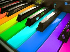 The keys are only black and white, but when played create thousands of colors in your mind <3