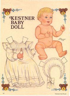 Antiguo recortable, bebé victoriano