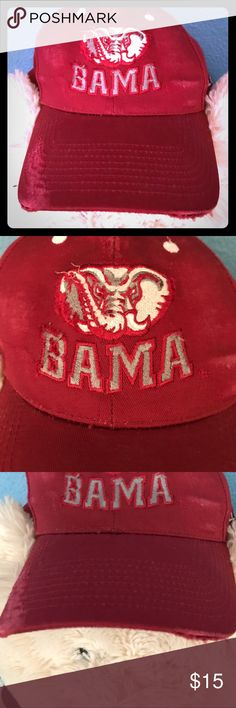 Distressed ROLL TIDE HAT ❤️❤️❤️ Like New BAMA Roll Tide ball cap! Adjustable Velcro straps worn once or twice. Excellent condition!! Accessories Hats