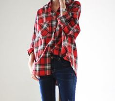 fall uniform {flannel  jeans}