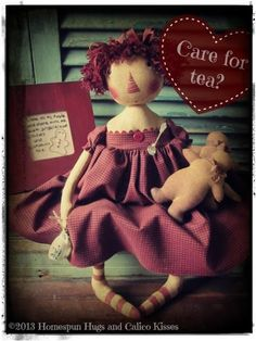 Gingerbread and tea  ~ Homespun Hugs and Calico Kisses Primitives