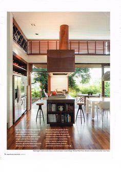 cozinha ilha duto coifa nichos na lateral