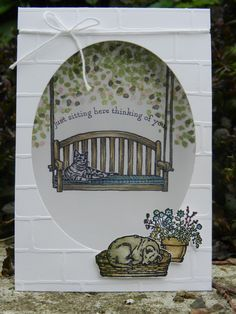 Stamp-ing: Nieuw stempelset uit de komende catalogus: 'Sitting Here' , samen met een nog lopend set: 'Sheltering Tree'