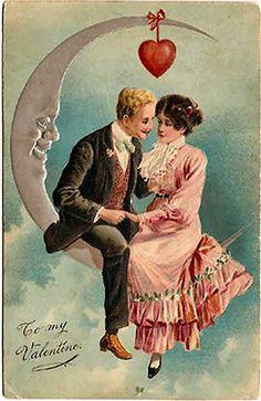 Vintage Moon valentine...sigh
