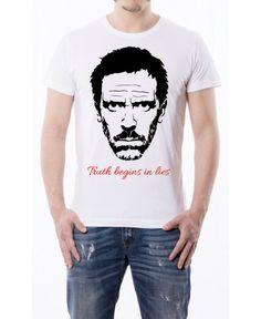 T-shirt Dottor House - Truth begin in lies