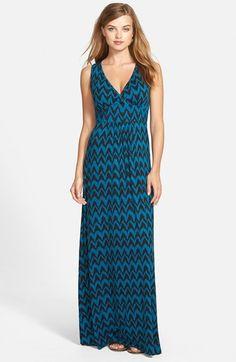 Loveappella V-Neck Jersey Maxi Dress (Regular & Petite)   Nordstrom