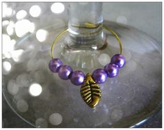 Handmade Gold Wine Glass Charms - 4 in a Set by IreneDesign2011