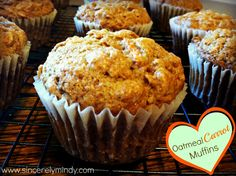 Packed with oats, carrots and applesauce, these Oatmeal Carrot Muffins are a great option for a nutritious breakfast on the go!