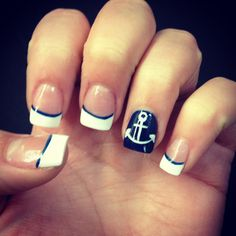 My Anchor nails for when I visited my sailor boyfriend! ❤ My Anchor nails for when I visited my sailor boyfriend! Hair And Nails, My Nails, Nautical Nail Art, Anchor Nails, Beach Nails, Holiday Nails, Mani Pedi, Nail Inspo, Cute Nails