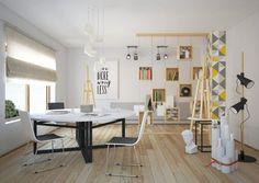 white round dining table black legs wood flooring scandinacian dining room decor ideas