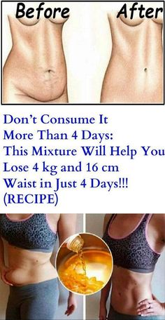 Don't Consume It More Than 4 Days: This Mixture Will Help You Lose 4 kg and 16 cm Waist in Just 4 Days! – (RECIPE) – Get Ideas