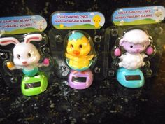 Solar Dancing Easter Figures Lot of 3.+ FREE GIFT!!