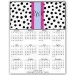 free-printable monogramed 2015 yearly calendar. Choose your pattern, type in your monogram and print.  From Chicfetti