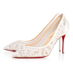 Shoes - Neoalto Dentelle Mariee/crepe Satin - Christian Louboutin Mens New Years Eve Outfit Christian Louboutin Red Bottoms, Louboutin High Heels, Christian Louboutin Outlet, Red Louboutin, Christian Dior, Look Fashion, Fashion Shoes, Fashion Outfits, Fashion Ideas