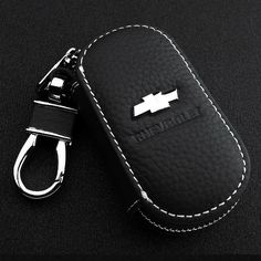 Car Smart Key Chain Leather Holder Cover Case Fob Remote For Honda Chevrolet VW Buick  Audi NISSAN KIA FORD BMW BENZ