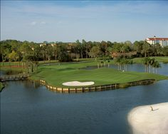 Hawk's Landing Golf Club in Orlando, Florida  Originally designed by Joe Lee with a redesign by Rober E. Cupp II, sporting Tifdwarf greens and water in play on 15 holes, this course offers golfers exquisite playing conditions and winds through one of the most popular resorts and convention centers in Orlando: The Marriott World Center.