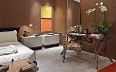 Texturas e tijolos aparentes dão novos ares às paredes da casa - Decoração - iG