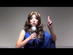 "This lady sings Katy Perry's ""Firework"" while doing impressions for various celebrities. Oh my!! So funny!!"