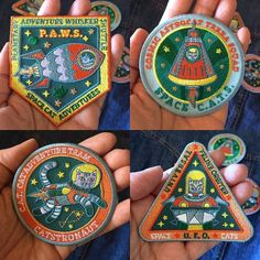 It official my patches are in! Space cat patches are blasting into your universe.  Now you can announce your membership to the space cat universe! Set of 4 Space Cat Patches http://etsy.me/2oOoVr8 via Etsy . . . #spacecat #catsinspace #catsofinstagram #patches #denimfashion #irononpatch #pinlover