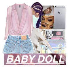 """""""babydoll servin'"""" by fresh-beautyx ❤ liked on Polyvore featuring Topshop, ASOS, Manon Baptiste and Windsor Smith"""