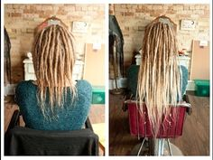 I love these dread extensions by Lunar Dreadlocks Thin Dreads, Short Dreads, Faux Dreads, Synthetic Dreadlocks, Dreadlocks Girl, Locs, Hair Lights, Light Hair, Permanent Dreadlock Extensions