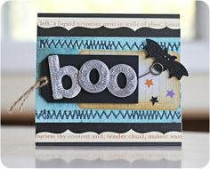 Finally Friday: Boo Card by Justlulu @2peasinabucket