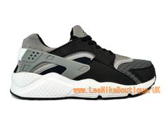 Nike Air Huarache GS - Women´s/Boys´ Nike Sportswear Shoe Black Gray