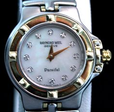 Raymond Weil Parsifal 18k Stainless Diamond Dial Ladies Wrist Watch 9690/1 c2003 #RaymondWeil #Dress