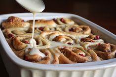 Cranberry orange cinnamon rolls by Completely Delicious, via Flickr