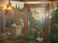 Ian Cairnie Landscape Mural Samples (jt- really love this mural! Like how it covers the door too. Full size but would look magical in a dolls house)