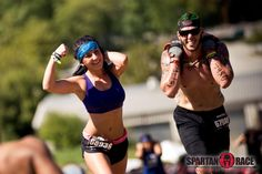 Carrying a pancake with one hand and flexing with the other...now that's a true Spartan!  #SpartanRace #SpartanChicked www.spartanrace.com