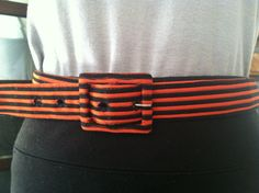 Super Cute Red and Black Stripped Cloth Cinch by SpeckledRedThrift, $10.00
