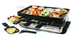 Swissmar Stelvio Stainless Steel Raclette Grill 8-person...want one of these for dinner parties!!
