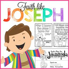 Free Preschool Bible Lessons for Sunday School or Children's Ministry.   Perfect for Christian Preschool at Home, or Daycare settings.  Faith Like Joseph includes Scripture memory work, story sequencing cards, and a take home early reader.  Available free from Christian Preschool Printables