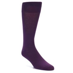 Dark Purple Solid Color Men's Dress Socks - Vannucci Purple Wedding Flowers, Purple Roses, Deep Purple, Groomsmen Socks, Wedding Day Gifts, Purple Themes, Pink Socks, Purple Glass, Dress Socks