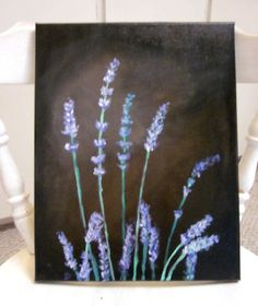 Classic Lavender Acrylic Original Painting 11 x 14 by naturelview, $39.00