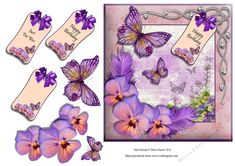 Butterfly Birthday Wishes - CUP729385_1459 | Craftsuprint