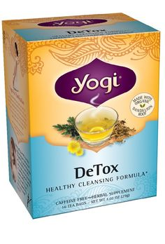 As everyday impurities find their way into our bodies, we may be left feeling tired or out of balance. Yogi DeTox is a gentle way to help the body cleanse itself  by aiding the two primary filtering organs, the liver and kidneys.  Save extra 10% on all Yogi Teas until Aug 31st 2015. Enter the code YOGI , and select the tea you'd  like to purchase.