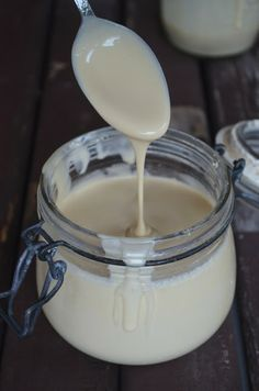 vegan condensed milk: 3 cans coconut cream + 3/4 cup liquid palm sugar (180ml)...