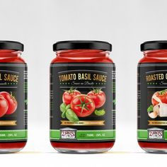 Create a modern upscale label for a jarred tomato sauce line by Partikules