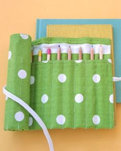 Pencil it in: A sweet homemade pencil case keeps all her No. 2's at the ready!  #backtoschool #diy