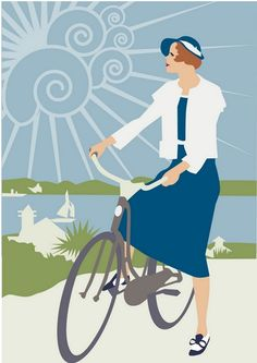 """""""Cycle Holiday Travel Poster"""" by S Rain Cycling Holiday, Holiday Travel, Art Deco Posters, Vintage Travel Posters, Bike Illustration, Bike Poster, Affinity Designer, Bicycle Art, Cycling Art"""