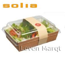 Kraft Salad Container with Clear Plastic Lid - Salad Packaging, Food Packaging Design, Packaging Design Inspiration, Packaging Ideas, Chef Salad, Salad Bar, Take Out Containers, Food Containers, Packaging