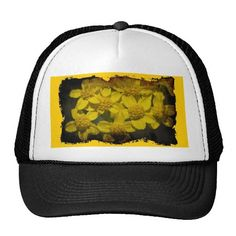 Yellow Wildflowers Hat by Florals by Fred #zazzle #gift #photogift